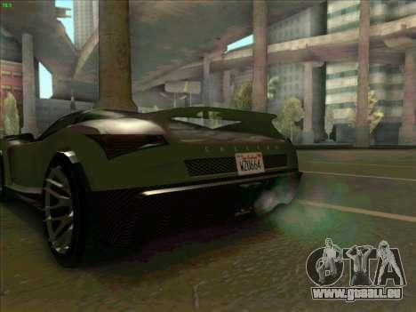 Cheetah Grotti GTA V pour GTA San Andreas sur la vue arrière gauche