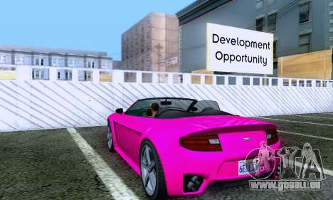 GTA V Rapid GT Cabrio pour GTA San Andreas vue de droite