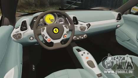 Ferrari 458 Italia 2010 Monster Energy pour GTA 4 est un côté