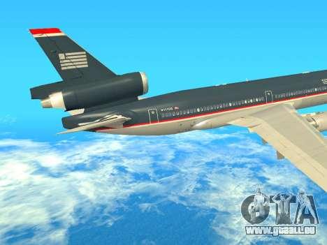 McDonnell Douglas MD-11 US Airways für GTA San Andreas Rückansicht