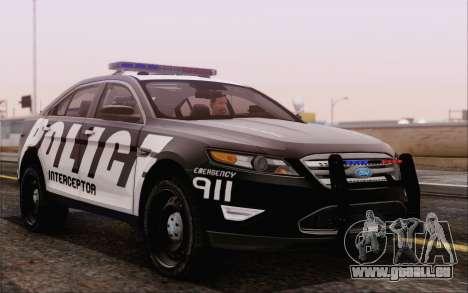 Ford Taurus Police für GTA San Andreas rechten Ansicht