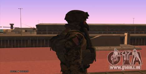 Global Defense Initiative Soldier für GTA San Andreas fünften Screenshot