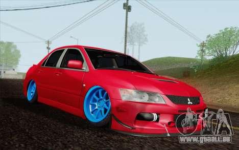Mitsubishi Lancer MR Edition für GTA San Andreas