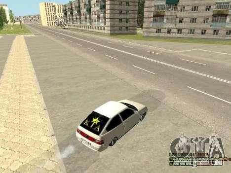 VAZ 21123 pour GTA San Andreas vue intérieure