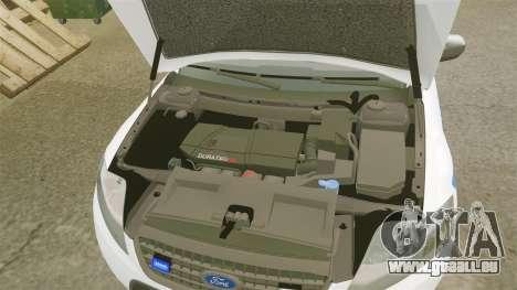 Ford Mondeo IV Wagon Police Nationale [ELS] pour GTA 4 est une vue de l'intérieur