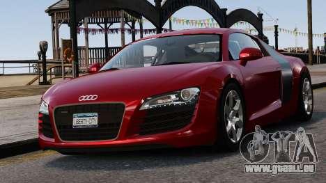 Audi R8 v1.1 pour GTA 4 est une vue de dessous