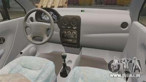 Daewoo Matiz SE 1998 pour GTA 4 Vue arrière