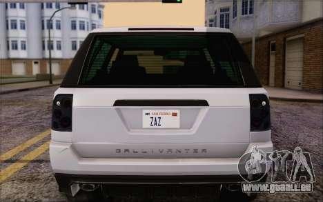 Abgestimmt Gallivanter Baller из GTA V für GTA San Andreas obere Ansicht