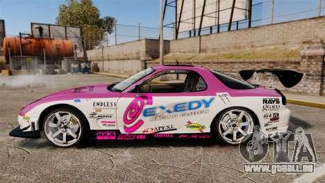 Mazda RX-7 D1 EXEDY pour GTA 4 est une gauche