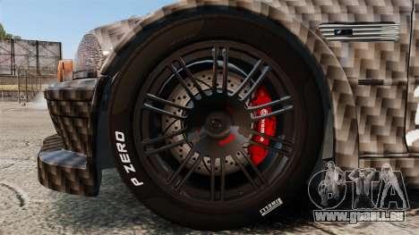 BMW M3 GTR 2012 Drift Edition pour GTA 4 Vue arrière