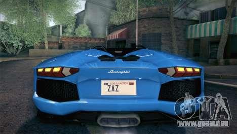 Lamborghini Aventador Roadster für GTA San Andreas Motor