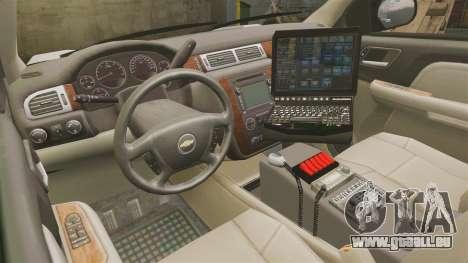 Chevrolet Tahoe 2008 LCPD [ELS] pour GTA 4 Vue arrière