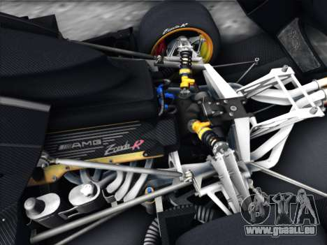 Pagani Zonda R 2009 für GTA San Andreas Innenansicht