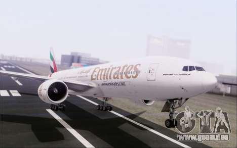 Emirates Airlines 777-200 für GTA San Andreas Seitenansicht