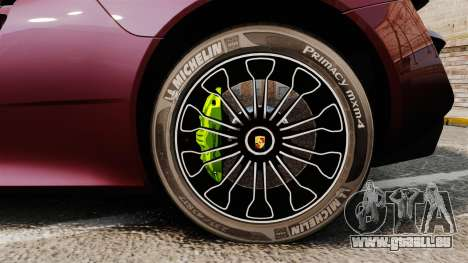 Porsche 918 Spyder für GTA 4 Rückansicht