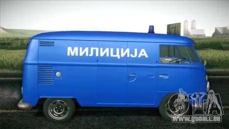 Volkswagen T1 Milicija pour GTA San Andreas laissé vue