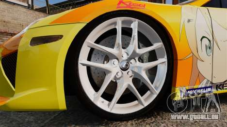 Lexus LF-A 2010 [EPM] Goodsmile Racing pour GTA 4 Vue arrière