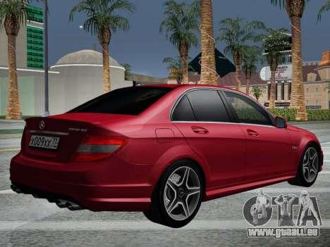 Mercedes-Benz C63 AMG HQLM für GTA San Andreas Seitenansicht