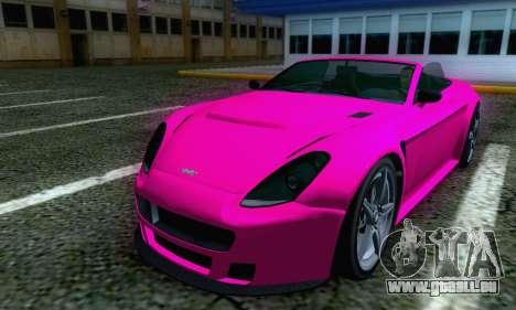 GTA V Rapid GT Cabrio pour GTA San Andreas sur la vue arrière gauche