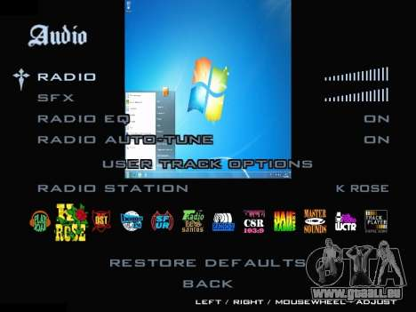 Le Menu Windows pour GTA San Andreas cinquième écran