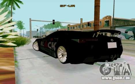 Lexus LFA Street Edition Djarum Black pour GTA San Andreas laissé vue