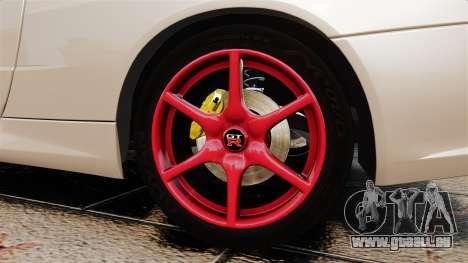 Nissan Skyline GT-R R34 V-Spec II für GTA 4 Rückansicht
