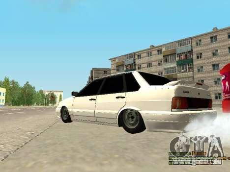VAZ 2115 für GTA San Andreas zurück linke Ansicht