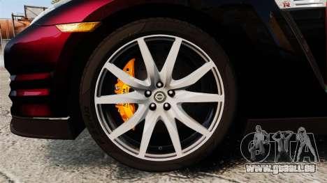 Nissan GT-R Black Edition 2012 Drive pour GTA 4 Vue arrière