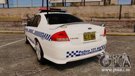 Ford Falcon XR8 Police Western Australia [ELS] für GTA 4 hinten links Ansicht