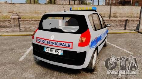 Renault Scenic Police Municipale [ELS] pour GTA 4 Vue arrière de la gauche