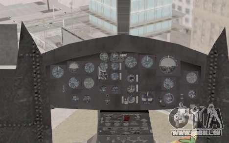 Bell UH-1N Twin Huey für GTA San Andreas Rückansicht
