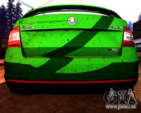 Skoda Octavia A7 RS pour GTA San Andreas vue de dessus