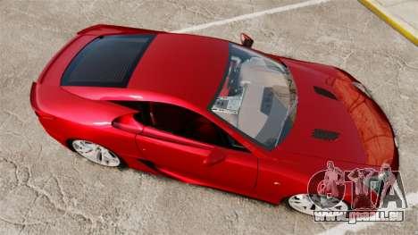 Lexus LF-A 2010 v2.0 [EPM] Final Version für GTA 4 rechte Ansicht