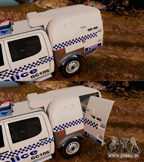 Toyota Hilux Police Western Australia pour GTA 4 est un côté