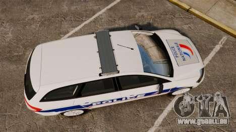 Ford Mondeo IV Wagon Police Nationale [ELS] für GTA 4 rechte Ansicht