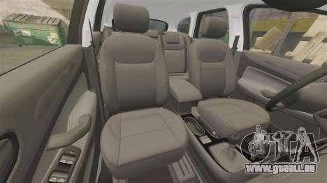 Ford Mondeo IV Wagon Police Nationale [ELS] pour GTA 4 vue de dessus