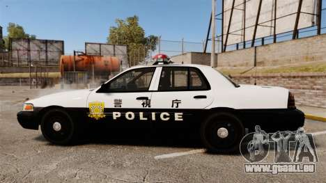 Ford Crown Victoria Japanese Police [ELS] pour GTA 4
