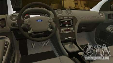 Ford Mondeo Croatian Police [ELS] für GTA 4 obere Ansicht