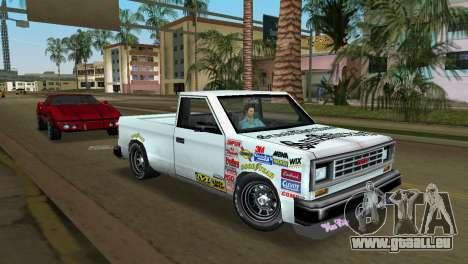 Bobcat Turbo pour GTA Vice City sur la vue arrière gauche