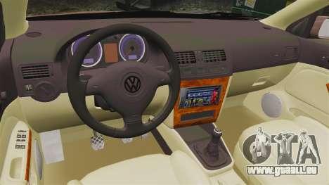 Volkswagen Bora 1.8T Camel für GTA 4 Innenansicht