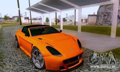 GTA V Rapid GT Cabrio für GTA San Andreas Unteransicht
