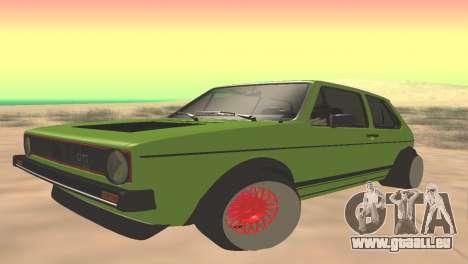 Volkswagen Golf Mk1 Low pour GTA San Andreas