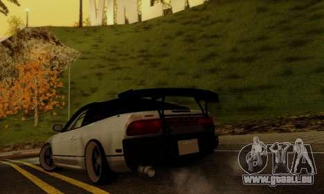 Nissan SX 240 pour GTA San Andreas sur la vue arrière gauche