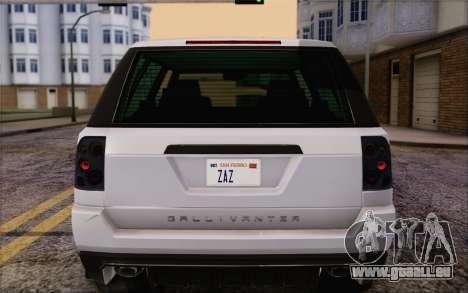 À l'écoute Gallivanter Baller из GTA V pour GTA San Andreas vue de dessous