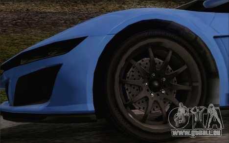 GTA V Dinka Jester HQLM pour GTA San Andreas sur la vue arrière gauche
