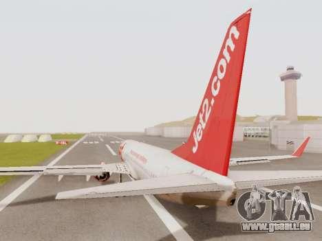 Boeing 737-800 Jet2 pour GTA San Andreas vue de droite