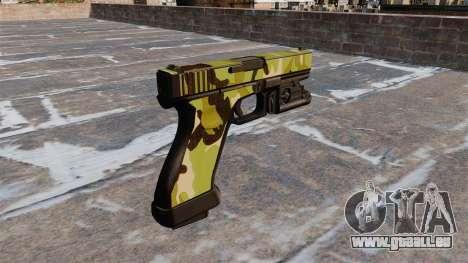Pistolet Glock 20 WoodLand pour GTA 4 secondes d'écran
