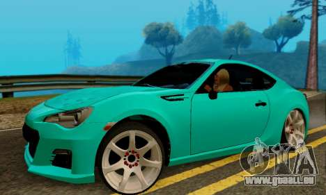 Subaru BRZ pour GTA San Andreas sur la vue arrière gauche