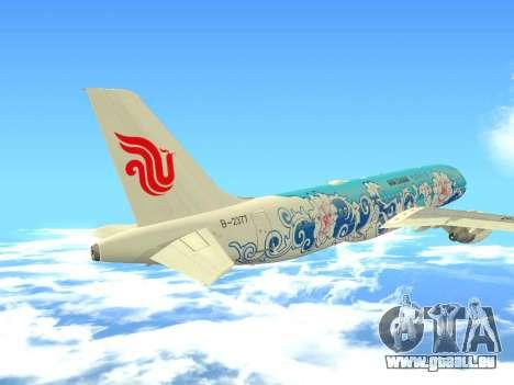 Airbus A320 Air China für GTA San Andreas obere Ansicht