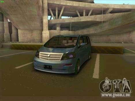 Toyota Alphard pour GTA San Andreas